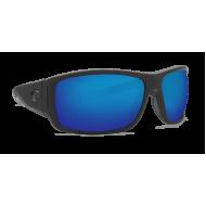 Costa cape matte black grey ultra blue mirror 580p